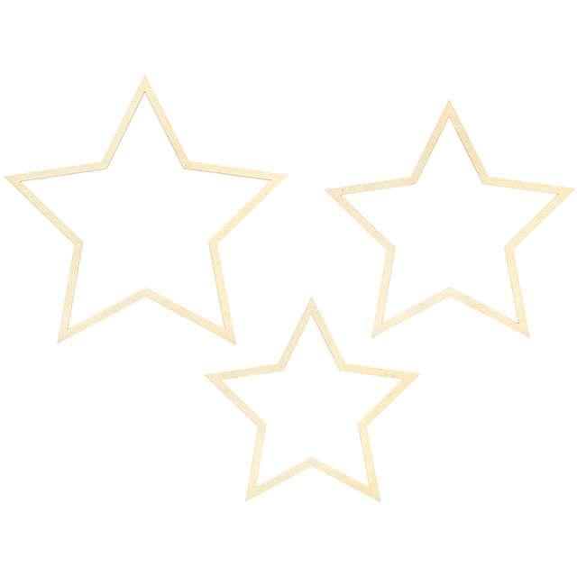 """Dekoracja """"Gwiazdy"""", PartyDeco, 35 cm, 3 szt"""
