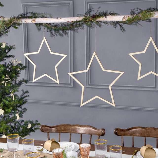Dekoracja Gwiazdy PartyDeco 35 cm 3 szt