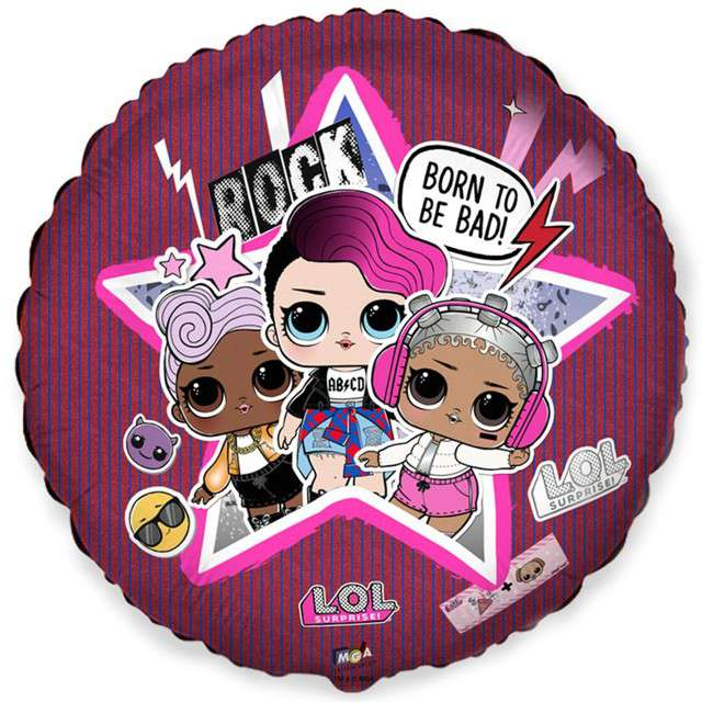 "Balon foliowy ""LOL Suprise - Born to be Bad"", FLEXMETAL, 18"" CIR"