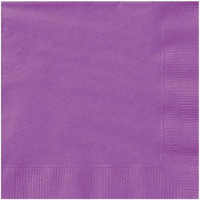"Serwetki papierowe ""Classic"", fioletowe, UNIQUE, 33 cm, 20 szt"