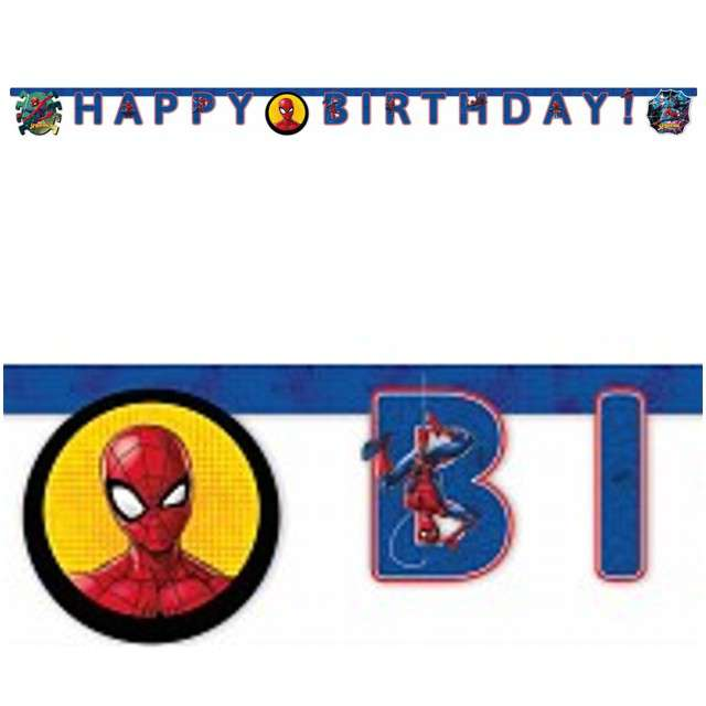 "Baner ""Spiderman Team Up - Happy Birthday"", PROCOS, 200 cm"