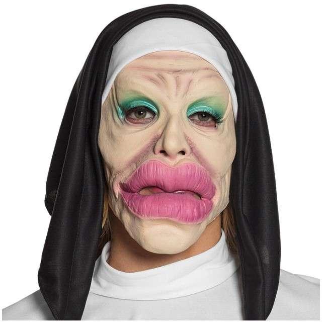 Maska Zakonnica - Duże Usta lateksowa BOLAND