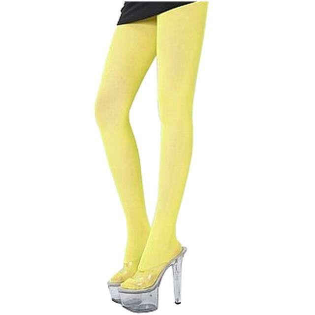 """Rajstopy """"Neon"""", żółte, GODAN, rozm. uniw."""