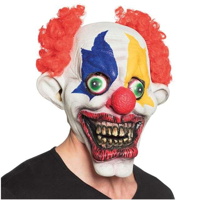 "Maska ""Klaun z włosami"", lateksowa, BOLAND"