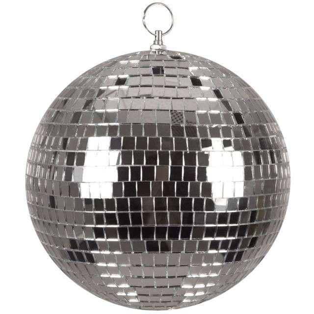 "Dekoracja ""Kula Dyskotekowa - Disco"", srebrna, BOLAND, 20 cm"