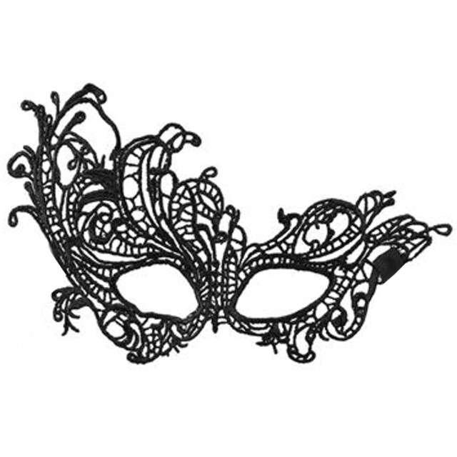 "Maska karnawałowa ""Masquerade"", czarna ażurowa, BOLAND"