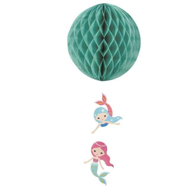 "Dekoracja ""Honeycomb kula syreny"", zielona, GUIRCA, 30cm"