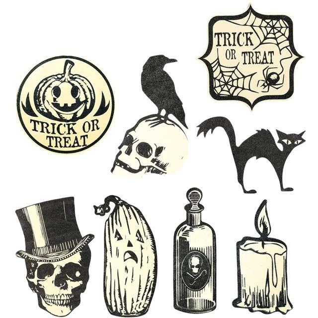 """Naklejki party szablon """"Halloween - Brokat"""", GUIRCA, 9 szt"""