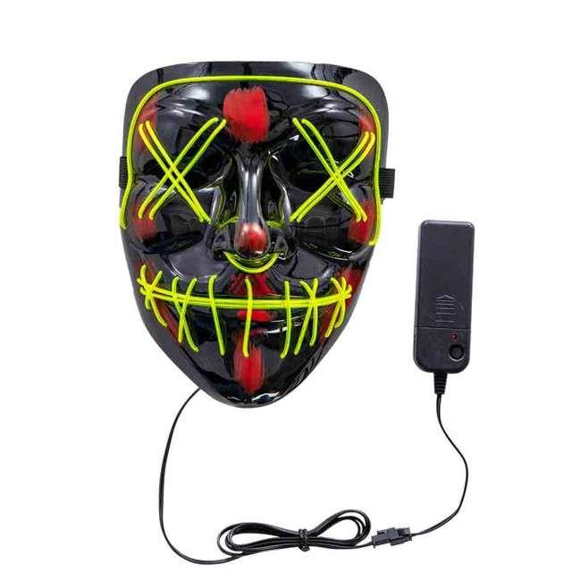 """Maska """"Horror Face - świecąca"""", plastikowa, Carnival Toys"""
