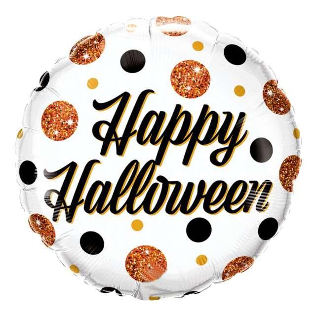 Balon foliowy Happy Halloween QUALATEX 18 CIR