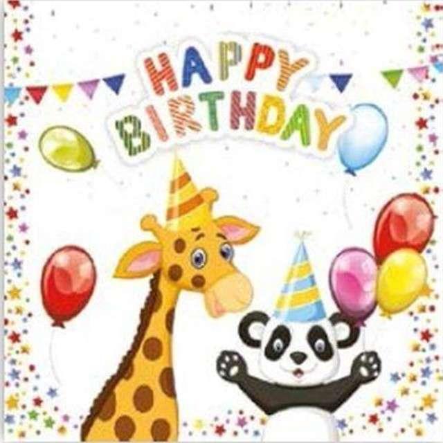 """Serwetki """"Zwierzątka - Happy Birthday"""", Maki-Daisy, 33 cm, 20 szt"""