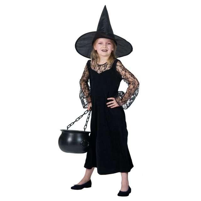 """Strój dla dzieci """"Czarownica Deluxe"""", Funny Fashion, 140 cm"""