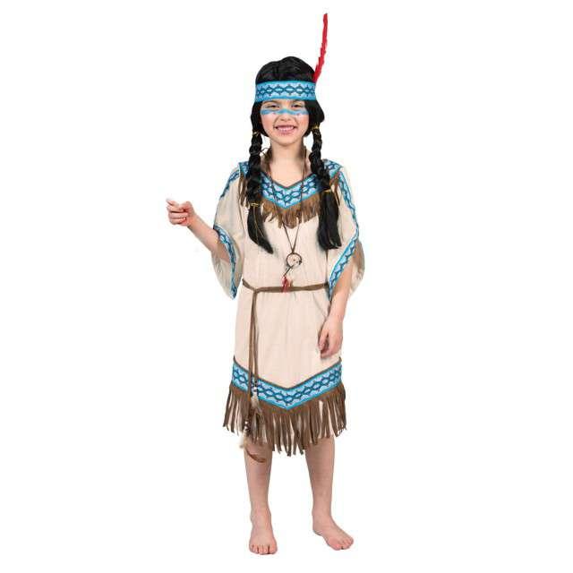 """Strój dla dzieci """"Indianka"""", Funny Fashion, rozm. 128 cm"""