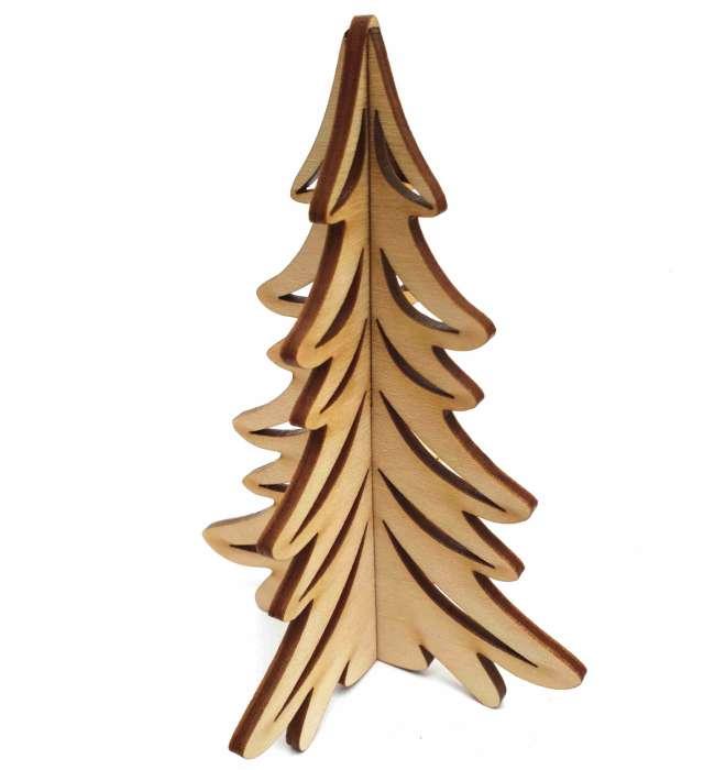 """Dekoracja drewniana """"Choinka Świąteczna rozm. S"""", 12 cm"""