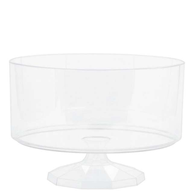 "Patera plastikowa ""Cookies Medium"", transparentna, AMSCAN, 18,5 cm"