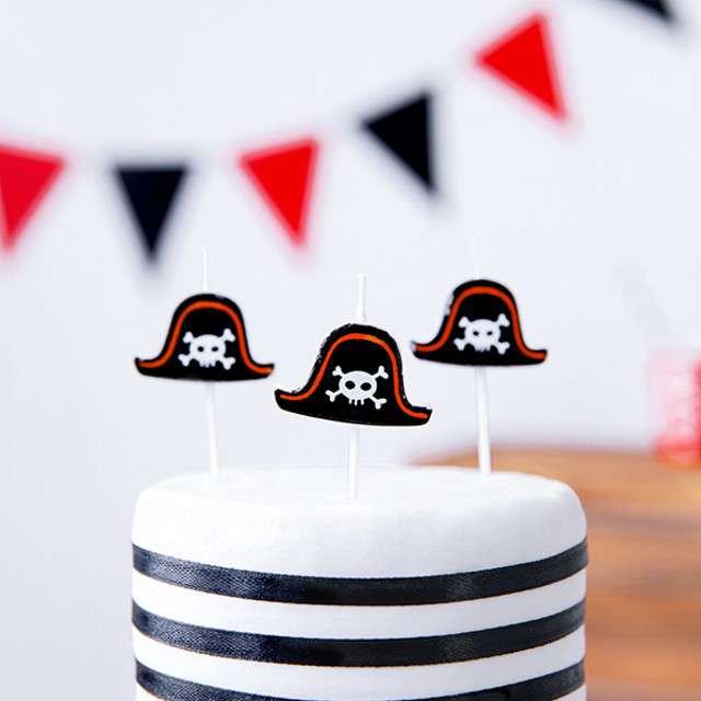 Świeczki urodzinowe Piraci mix PartyDeco 5 szt