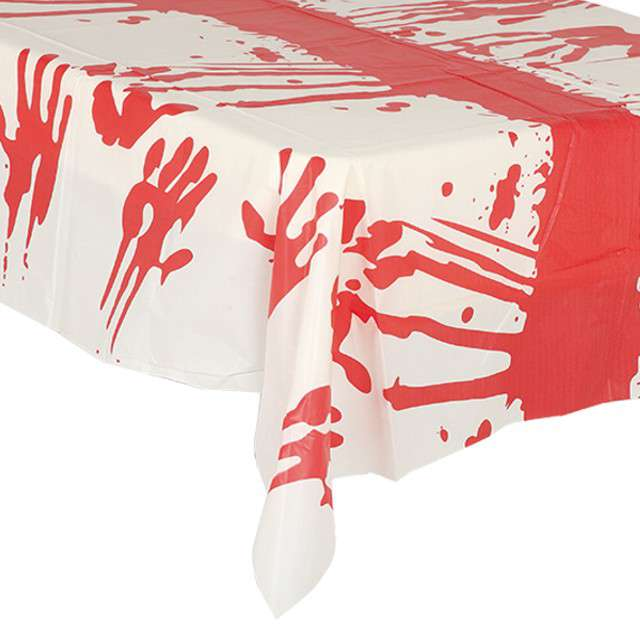 """Obrus foliowy """"Krwawe Ślady"""", GUIRCA, 270x135 cm"""