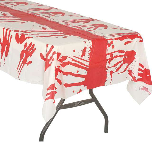 Obrus foliowy Krwawe Ślady GUIRCA 270x135 cm