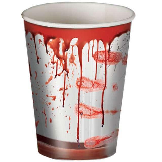 """Kubeczki papierowe """"Krwawe Ślady"""", GUIRCA, 8 szt"""