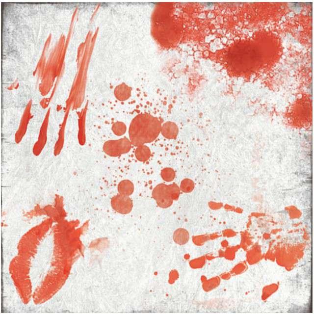 Serwetki Krwawe Ślady GUIRCA 33 cm 20 szt