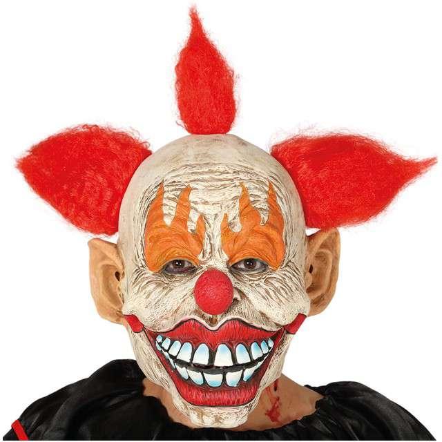 """Maska """"Klaun"""", lateksowa, GUIRCA"""