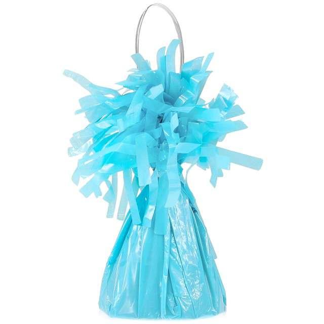 Obciążnik do balonów, foliowy, niebieski pastelowy