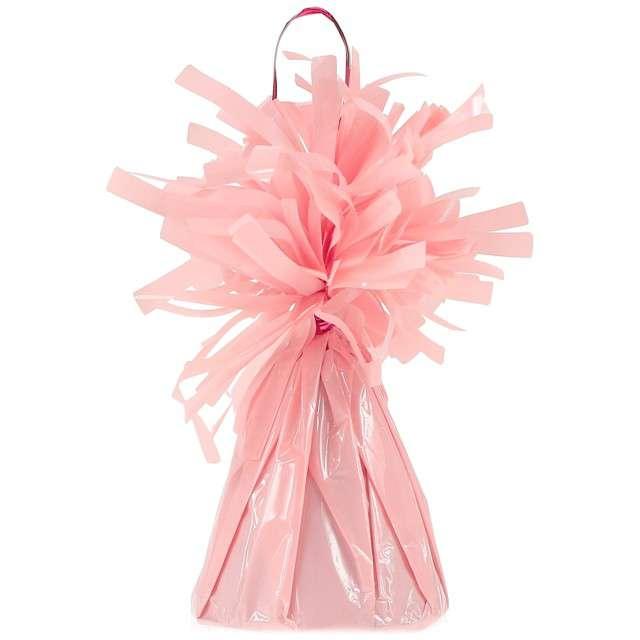Obciążnik do balonów, foliowy, różowy pastelowy