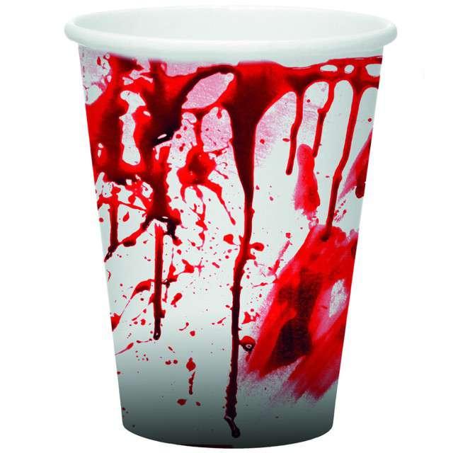 """Kubeczki papierowe """"Krwawe Ślady"""", FunnyFashion, 250 ml, 8 szt"""