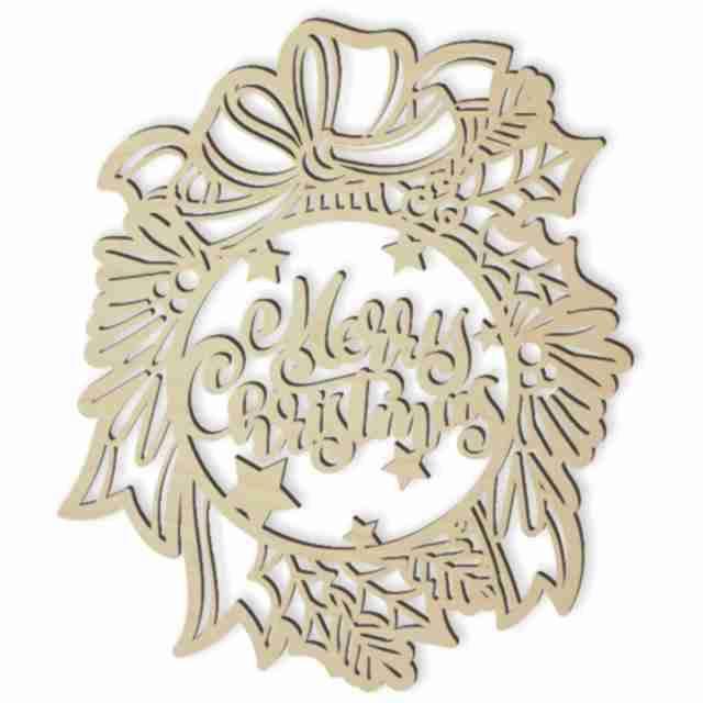 """Dekoracja drewniana dekor """"Bombka Merry Christmas"""", 23 cm"""