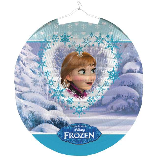 "Lampion papierowy ""Frozen - Anna"", AMSCAN, 26 cm"