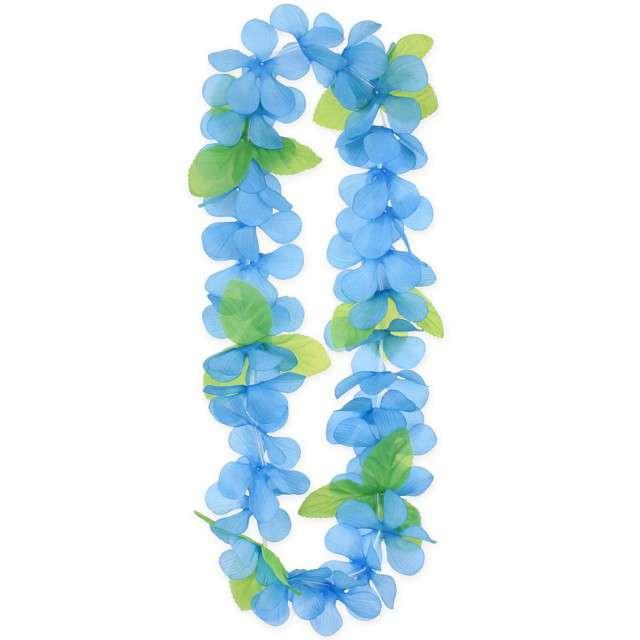 """Naszyjnik Hawajski """"Wiosenny"""", niebieski, Godan, 120 cm"""