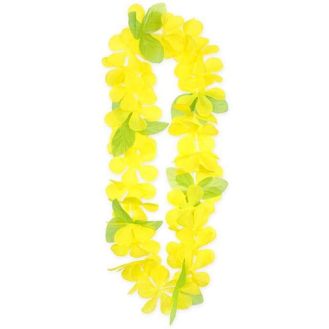 """Naszyjnik Hawajski """"Wiosenny"""", żółty, Godan, 120 cm"""