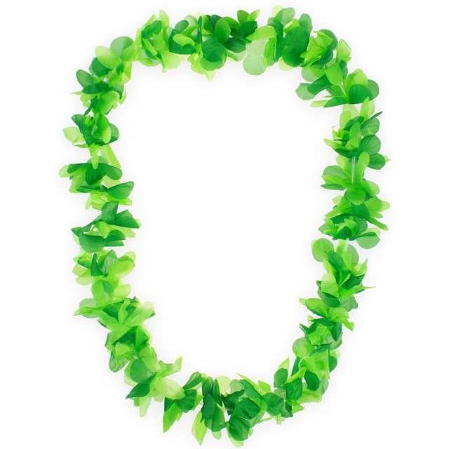 """Naszyjnik hawajski """"Kwiaty"""", zielony, GODAN, 116 cm"""