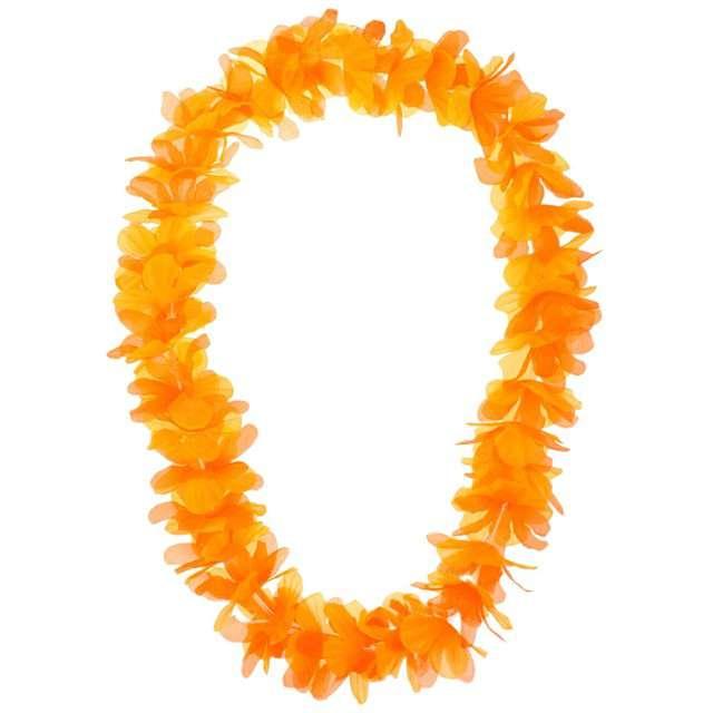 """Naszyjnik hawajski """"Kwiaty"""", pomarańczowy, GODAN, 116 cm"""