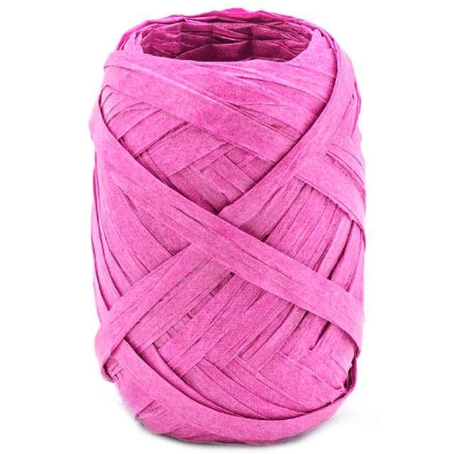 """Wstążka do balonów """"Rafia"""", różowa ciemna, PartyDeco, 5 mm/10 m"""
