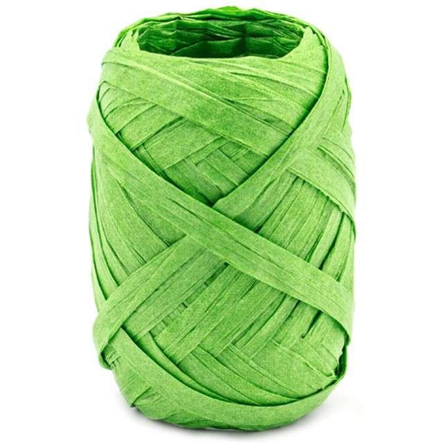"""Wstążka do balonów """"Rafia"""", zielona, PartyDeco, 5 mm/10 m"""