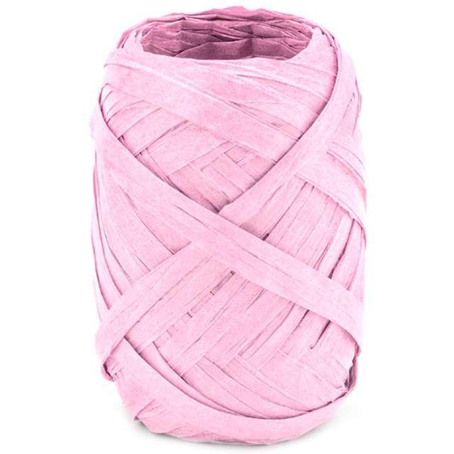 """Wstążka do balonów """"Rafia"""", różowa jasna, PartyDeco, 5 mm/10 m"""