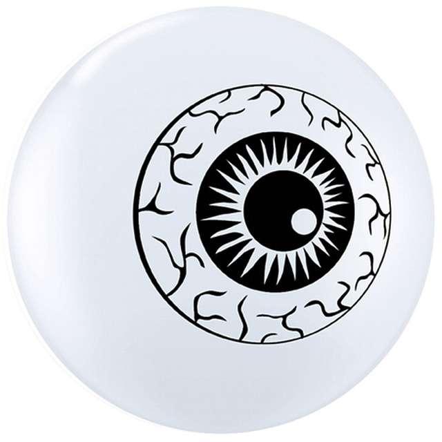 Balony Oko białe QUALATEX 5 100 szt
