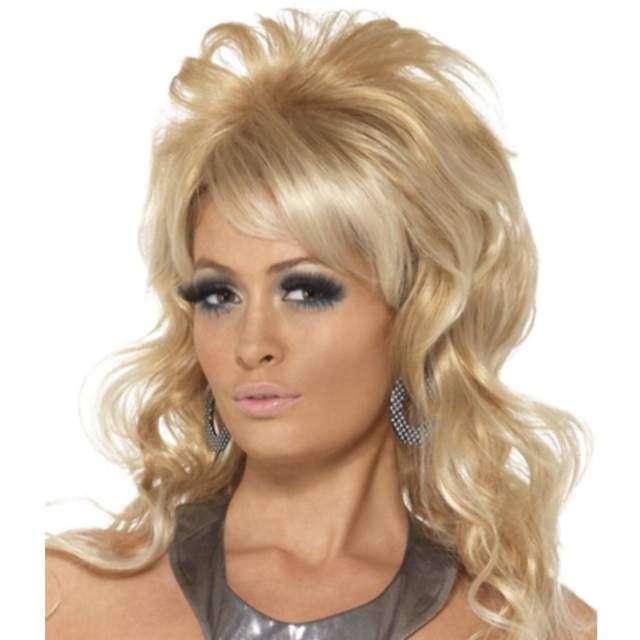 """Peruka party """"Blondyna - lata 70"""", blond, SMIFFYS"""
