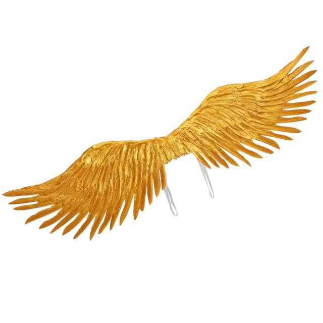 """Skrzydła """"Anioł Gold Angel"""", złote, Widmann, 100x25cm"""