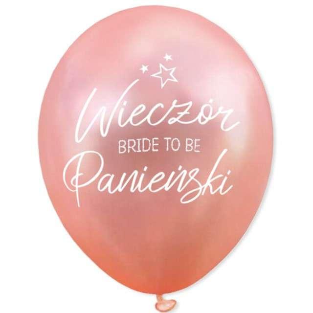"""Balony """"Wieczór panieński - Bride to Be"""", różowe złoto, DekoracjePolska, 12"""", 5 szt"""