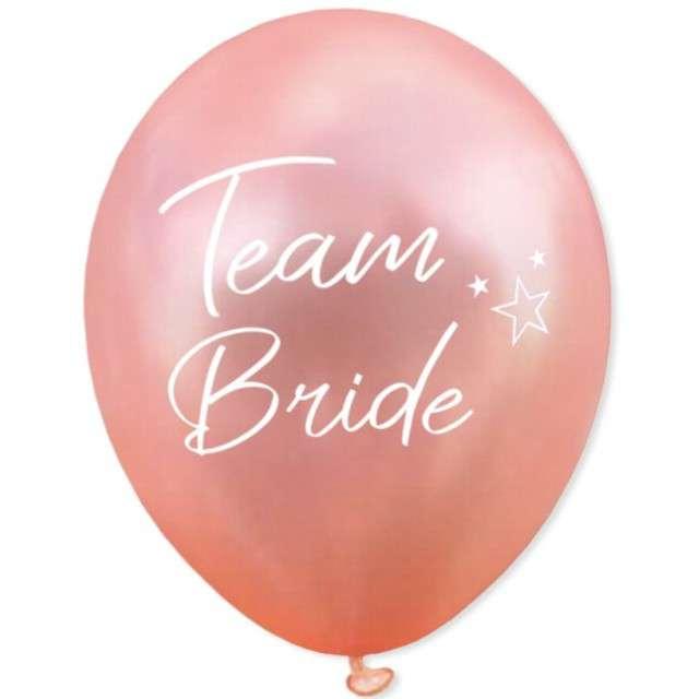 """Balony """"Team Bride"""", różowe złoto, DekoracjePolska, 12"""", 5 szt"""
