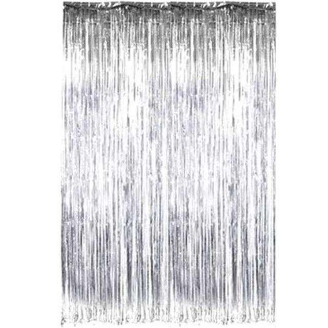 """Kurtyna na drzwi """"Classic Mat"""", srebrna, Dekoracje Polska, 100x200 cm"""