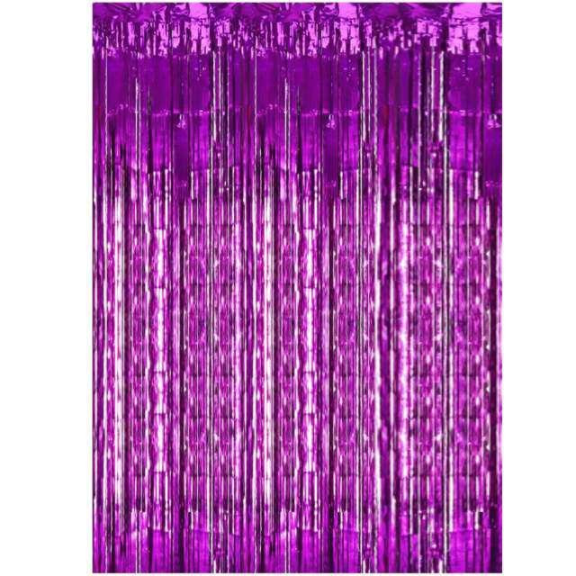 """Kurtyna na drzwi """"Classic"""", purpurowa, PartyDeco, 250 x 90 cm"""
