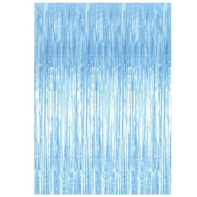 """Kurtyna na drzwi """"Classic"""", błękitna, PartyDeco, 250 x 90 cm"""