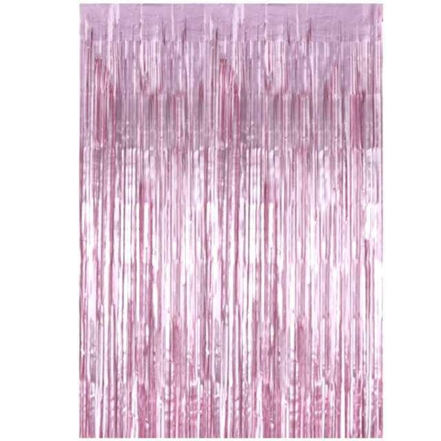 """Kurtyna na drzwi """"Classic"""", różowa, PartyDeco, 250 x 90 cm"""