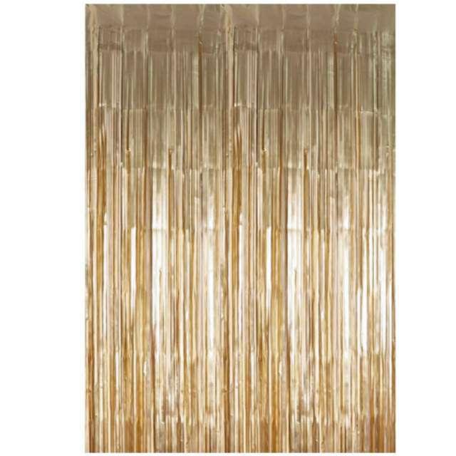 """Kurtyna na drzwi """"Classic"""", złota retro, PartyDeco, 250 x 90 cm"""