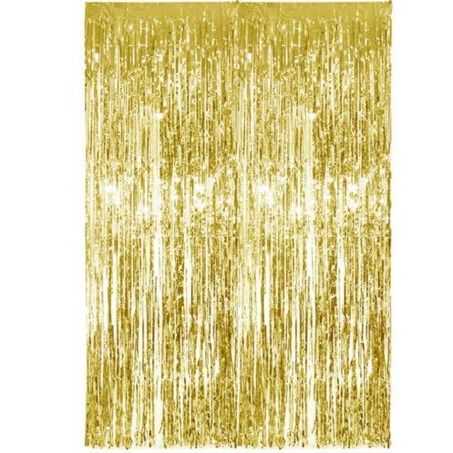 """Kurtyna na drzwi """"Classic"""", złota, PartyDeco, 250 x 90 cm"""