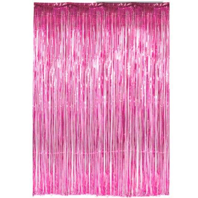 """Kurtyna na drzwi """"Classic"""", różowa, Dekoracje Polska, 250 x 90 cm"""
