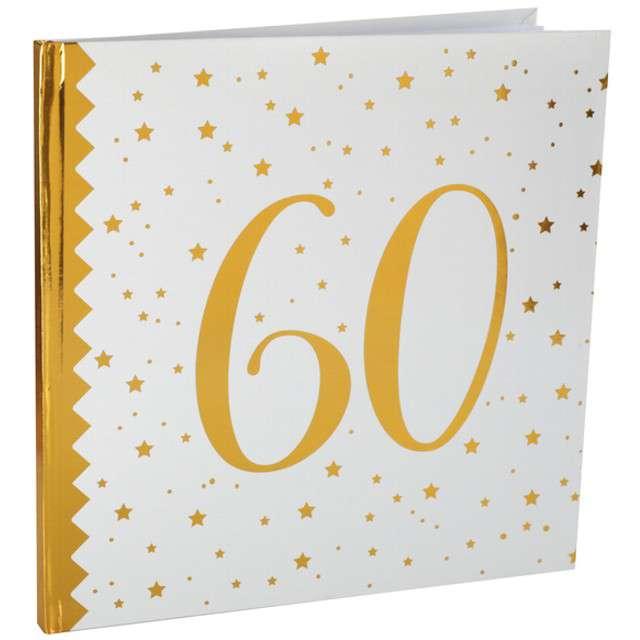 """Księga Gości """"60 Urodziny"""", SANTEX, 24 x 24 cm, 20 kartek"""